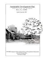 University of Oregon Sustainable Development Plan